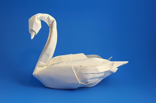 How to make a FLYING SWAN | ORIGAMI Bird out of paper Tutorial DIY ... | 431x650